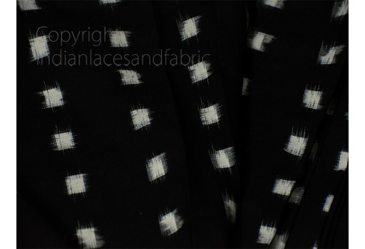 Black Ikat Fabric Yardage Handloom Upholstery Fabric Cotton sold by yard Double Ikat Home Decor Bedcovers Tablecloth Draperies Cushion Cover