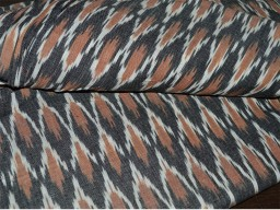 Homespun Ikat Cotton Fabric Handloom Ikat Cotton Fabric sold by yard in Brown Black and White Ikat Fabric for Home Decor Cushion Covers