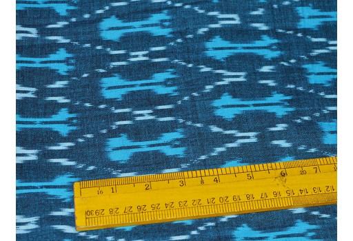 Indian Ikat Fabric Ikat Cotton Fabric Ikat Upholstery Fabric Handwoven Ikat Homespun Ikat Fabric for Home Decor Blue Black white Ikat