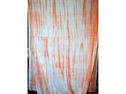 Orange Machine Tie Dye Soft Cotton Fabric