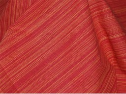 Homespun Khadi Cotton Fabric in Two Tone Red and Yellow Color