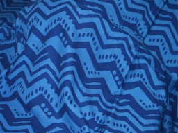 Screen Printed Pure Cotton Fabric in Blue color Boho Fabric