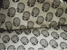 Dabu Hand Stamped Fabric Block Printed cotton fabric