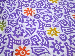 Batik Cotton Fabric in Lavender White