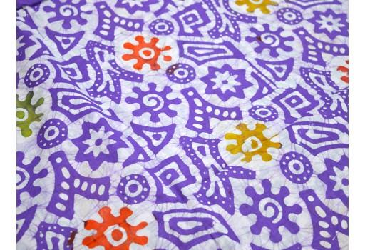 Batik Cotton Fabric in Lavender White