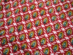 Pure Cotton Dress Fabric by the yard  Block Red Yellow Green