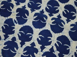 Indigo Blue Cotton Fabric Block Printed vegetable dyed Ethnic crafting cotton fabric sold by Yard crafting sewing clothing fabric for bags