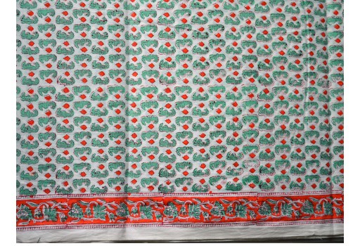 Block Print Cotton Fabric by the yard