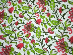 Block Print Cotton Fabric by the yard Hand Printed Fabric Indian Fabric