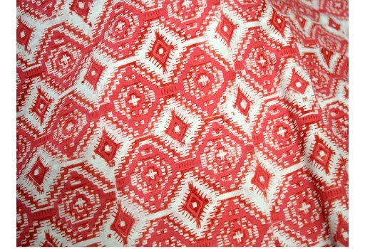 Block Print Cotton Fabric  Soft Cotton Fabric by the yard