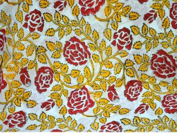 Block Print Cotton Fabric by the yard Summer dresses fabric for kids