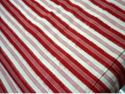 Ikat Cotton Fabric Handloom Ikat Pattern in Red and White Color cotton fabric by the yard Ikat for cushion covers curtains