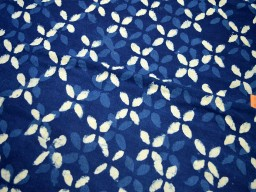 Indigo Blue Indian Hand Block Printed Quilting Cotton Fabric sold by Yard Sewing Crafting Drapes Curtains Summer Women Girls Dresses Apparel