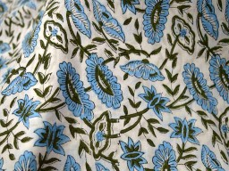Block Print Cotton Fabric by the yard in..