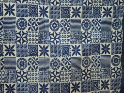 Indigo Blue Vegetable dyed Hand Block Printed Cotton