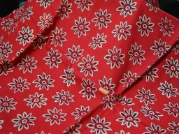 Vegetable Dye Fabric in Red Maroon summer fabric