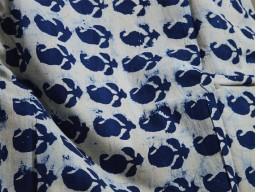Indigo Fabric Paisley Print Cotton Fabric
