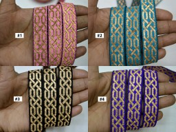 9 Yard Wholesale jacquard indian sari trim brocade dupatta laces christmas supplies trimmings sewing dresses ribbon costume dolls diy crafting curtain border garment accessories
