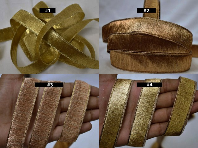 9 Yard Wholesale Decorative Indian costume Metallic Saree Trims Décor Sari Border Sewing Crafting Trimming Embellishments Ribbon Home Decor Curtains garment accessories