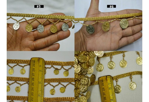 9 Yard Wholesale Coin Fringe Decorative Dancer Costume Trim Home Decor Curtain Crafting Supplies Sewing Wedding Lehnga Costume Dupatta Trimming clothing accessories