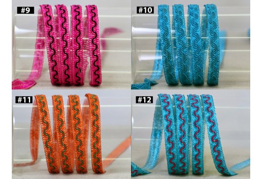 18 Yard wholesale Indian decorative ribbon braided bag embellishments border trim braid sofa covers lace gimp cord tape curtain sewing diy crafting home decor upholstery material tape