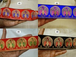 9 Yard Wholesale Indian party wear dresses trim Jacquard Decorative Sari Laces Saree Tape DIY Crafting Sewing Curtains borders Belts Cushions home décor brocade trimming beautiful costume ribbon
