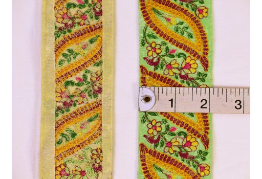 Indian sari border saree fabric fabric trim by the yard crafting sewing tape decorative costume ribbon festive suit lace embroidery embellishment trimming garment accessories