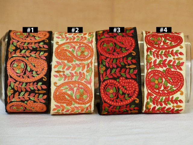 Embroidery Sari border dresses tape embellishments laces decorative embroidered costume fabric trim by the yard border costume ribbon crafting sewing accessories