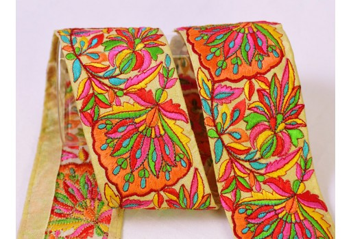 9 Yard Wholesale Embroidery trim embellishment costume laces fashion embroidered wedding saree ribbon sewing crafting border Indian gown trimming clothing accessories