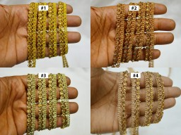 9 Yard Wholesale Embellishment Sewing doll making Trimming crafting garment wedding sari Beaded Decorative Indian Costume Trim Metallic Dupatta Ribbon dresses Lace clothing tap