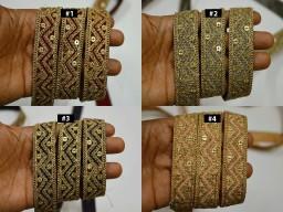2 Yard Wedding lehenga Sequins Saree Border embellishments Indian costume Laces Decorative Embroidered Trim Sari Borders Costume ribbon crafting Sewing Fabric trims dresses tape