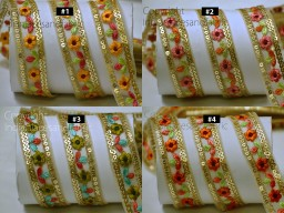 3 Yard Indian Embroidered Fabric Trim Decorative Saree Border Sari Costume ribbon crafting Wedding Gown Sewing Tape Cushion Covers Laces