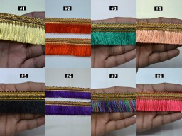 """4 Yard 1.5"""" Indian brush eyelash tassel fringe trim decorative drapery upholstery cushions home décor ribbon sewing crafting trimmings wedding wears lace garment clothing tapes"""