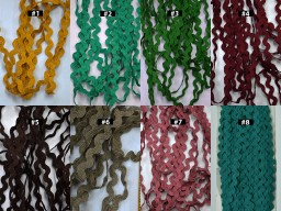 12 Yard Vintage Style Trim Rick Rack Decorative Dupatta Trimmings Zig Zag Edging Ribbon Embellishment Crafting Decor Sewing Accessories Indian dresses costume festive wear gown lace