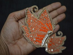 Golden Christmas Appliques Decorative Appliques Handmade Patches Sewing Indian Dresses