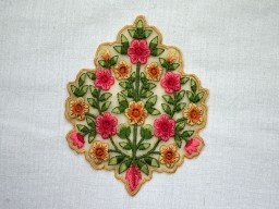 Thread Embroidered Sewing Floral Applique Decorative Indian Dresses Patches Appliques