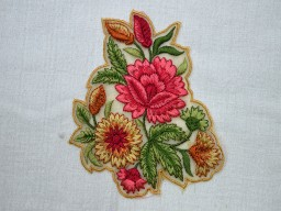 Floral Applique Decorative Thread Embroidered Sewing Indian Dresses Patches Appliques