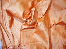 Peach fabric by the yard poly dupion fabric crafting wedding bridesmaid prom dresses sewing costumes cushions drapes