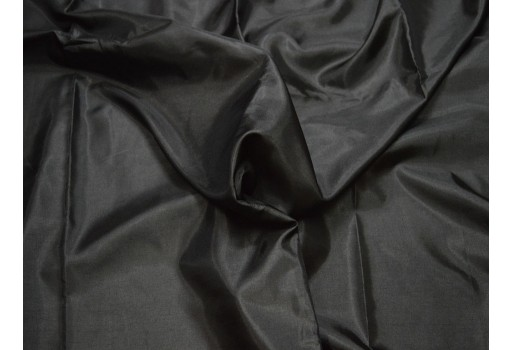 Black lining polyester fabric by the yard poly fabric crafting wedding bridesmaid dresses sewing costumes cushion covers drapes