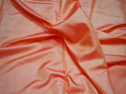 Iridescent orangish peach poly fabric crafting wedding bridesmaid dresses sewing costumes cushion covers drapes lining