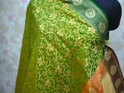 Brocade Dupatta Long Silk Scarf Ethnic Wedding occasion