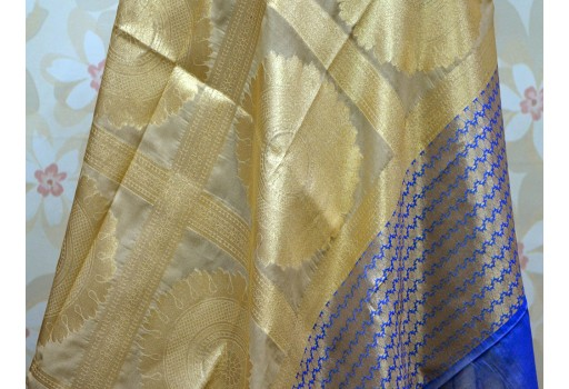 Indian Brocade Dupatta Silk Scarf Women Stole Evening Scarves