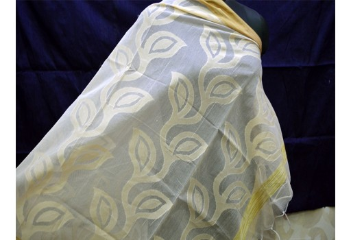 Cotton Brocade Dupatta, Gifts for Her Bridesmaid Stoles Christmas Gifts
