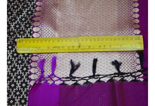 Ethnic Bridal Dupatta Indian Brocade Dupatta Women Scarf stole Elegant Evening Scarves
