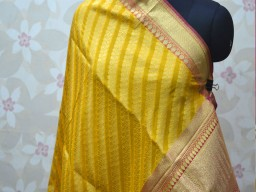 Bohemian silk scarf indian yellow brocade dupatta women bridesmaid stoles shawls stylish and wraps christmas gifts long stunning dress up banarasi wedding wear ethnic wrap evening scarves