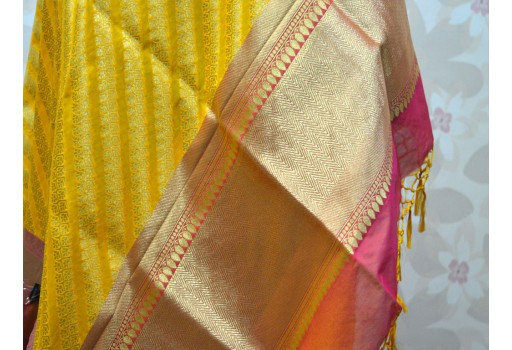 Long Scarf Banarasi Wedding Dupatta ethnic wrap Evening Scarves