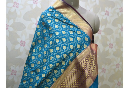 Indian Brocade Dupatta Scarf Women stole Christmas Gifts Long Scarf