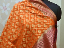 Banarasi Dupatta Women stole Brocade Long Scarf Wrap Christmas Gifts