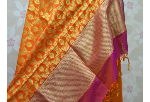 Banarasi Dupatta Women stole Indian Wedding Dupatta Scarf