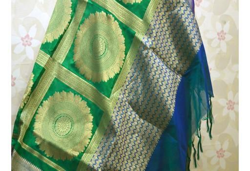Banarasi Brocade Dupatta Silk Scarf Women Stole Boho Scarf Wedding Christmas Gifts